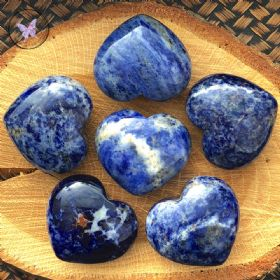 Sodalite Gemstone Crystal Heart